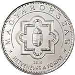 50 forint coin 70th Anniversary of Introduction of Hungary's Legal Tender | Hungary 2016