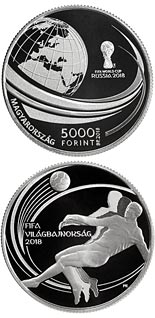 5000 forint coin XXI. FIFA WORLD CUP | Hungary 2018