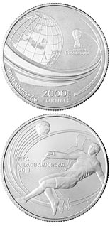 2000 forint coin XXI. FIFA WORLD CUP | Hungary 2018