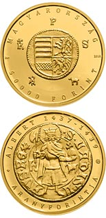 50000 forint coin The Gold Florin of Albert Habsburg (1397-1439) | Hungary 2018