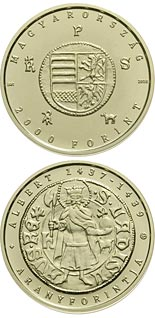 2000 forint coin The Gold Florin of Albert Habsburg (1397-1439) | Hungary 2018