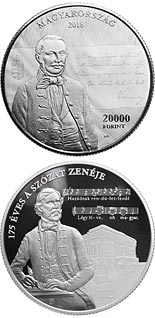 20000 forint coin 175th Anniversary of Setting the Szózat to Music | Hungary 2018