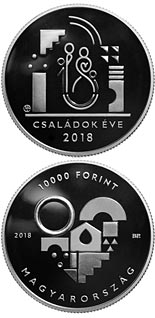 10000 forint coin Year of the Families | Hungary 2018