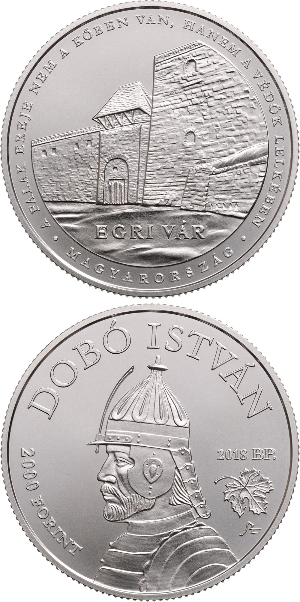 Image of 2000 forint coin - The castle of Eger | Hungary 2018.  The Brass coin is of BU quality.