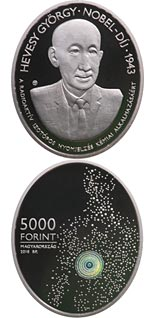 5000 forint coin 75th Anniversary of the Nobel Prize of György Hevesy | Hungary 2018