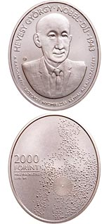2000 forint coin 75th Anniversary of the Nobel Prize of György Hevesy | Hungary 2018
