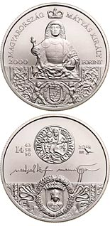 2000 forint coin King Matthias Memorial Year | Hungary 2018