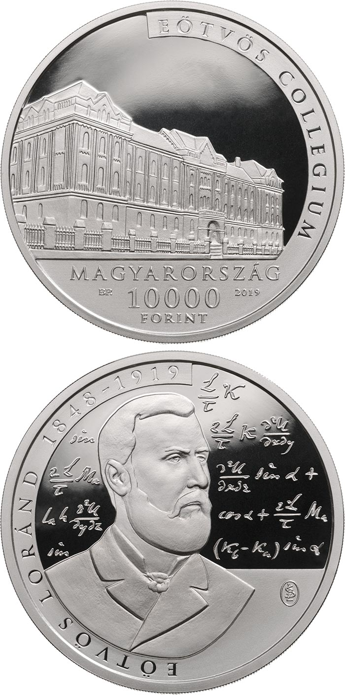 Image of 10000 forint coin - The 100th anniversary of the death of