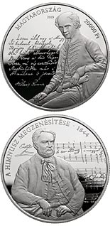 20000 forint coin 175th anniversary of the musical setting to the Anthem | Hungary 2019