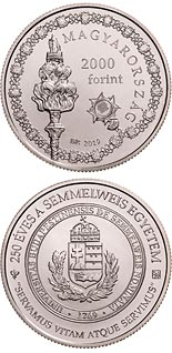 2000 forint coin 250th Anniversary of the Foundation of Semmelweis University | Hungary 2019