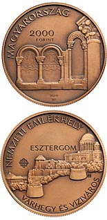 2000 forint coin Esztergom, Castle Hill and Víziváros National Memorial Site | Hungary 2019