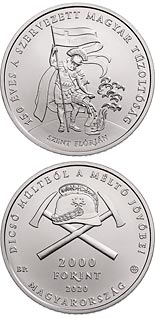 2000 forint coin 150 years of organised fire departments in Hungary | Hungary 2020