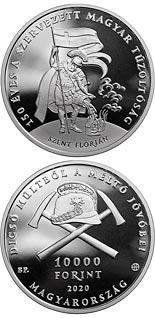 10000 forint coin 150 years of organised fire departments in Hungary | Hungary 2020