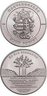 3000 forint coin 30th anniversary of the political transition | Hungary 2020