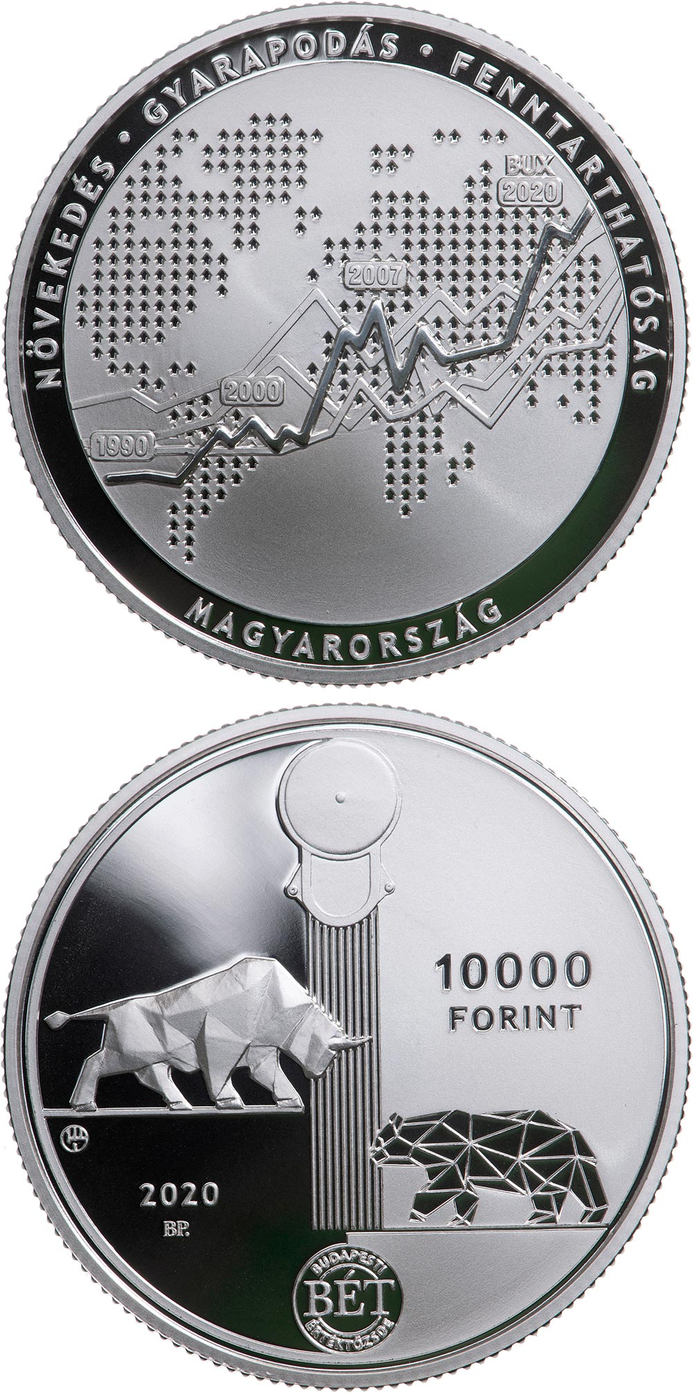 Proof Silver Hungary 2020 State Audit Office of Hungary 10000 Ft
