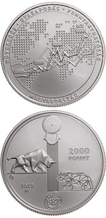 2000 forint coin 30th anniversary of the re-establishment of the Budapest Stock Exchange | Hungary 2020