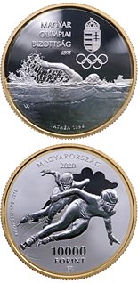 10000 forint coin 125 years of Hungarian Olympic Committee | Hungary 2020