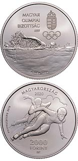 2000 forint coin 125 years of Hungarian Olympic Committee | Hungary 2020