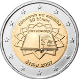 2 euro coin 50th Anniversary of the Treaty of Rome | Ireland 2007