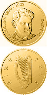 20 euro 90th Anniversary of the Death of Michael Collins - 2012 - Series: Gold 20 euro coins - Ireland