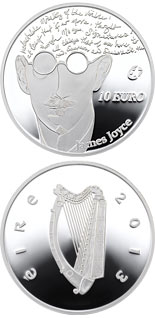 10 euro coin James Joyce | Ireland 2013