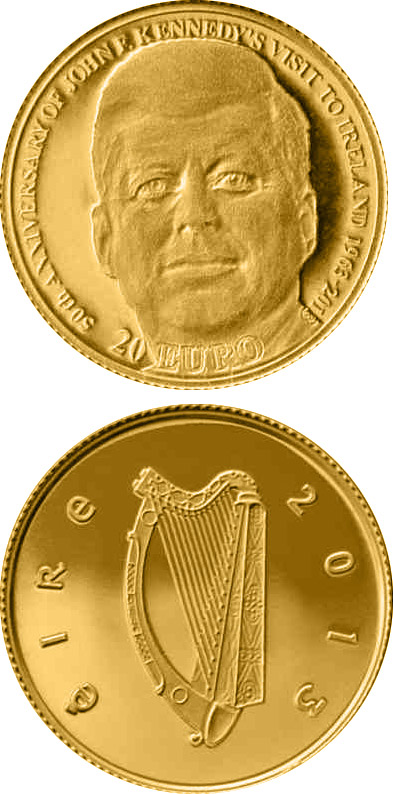 20 euro 50th Anniversary of President John F. Kennedy's visit to Ireland15 - 2013 - Series: Gold 20 euro coins - Ireland