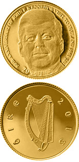 20 euro coin 50th Anniversary of President John F. Kennedy's visit to Ireland15 | Ireland 2013