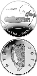 15 euro John Philip Holland - 2014 - Series: Irish others commmorative coins - Ireland