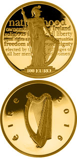 100 euro coin 100th anniversary of the Proclamation of the Irish Republic | Ireland 2016