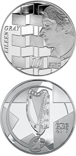 10 euro coin Eileen Gray | Ireland 2016