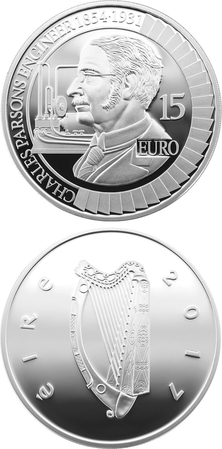 15 euro Sir Charles Algernon Parsons - 2017 - Series: Irish others commmorative coins - Ireland