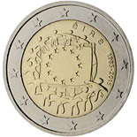 2 euro coin The 30th anniversary of the EU flag | Ireland 2015