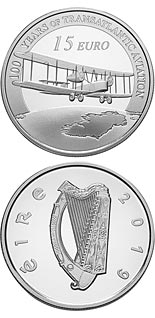 15 euro coin 100 Years since the First Trans-Atlantic Flight | Ireland 2019
