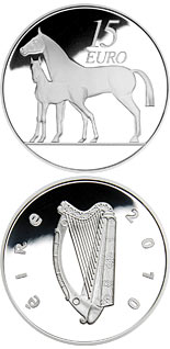15 euro coin The Horse | Ireland 2010