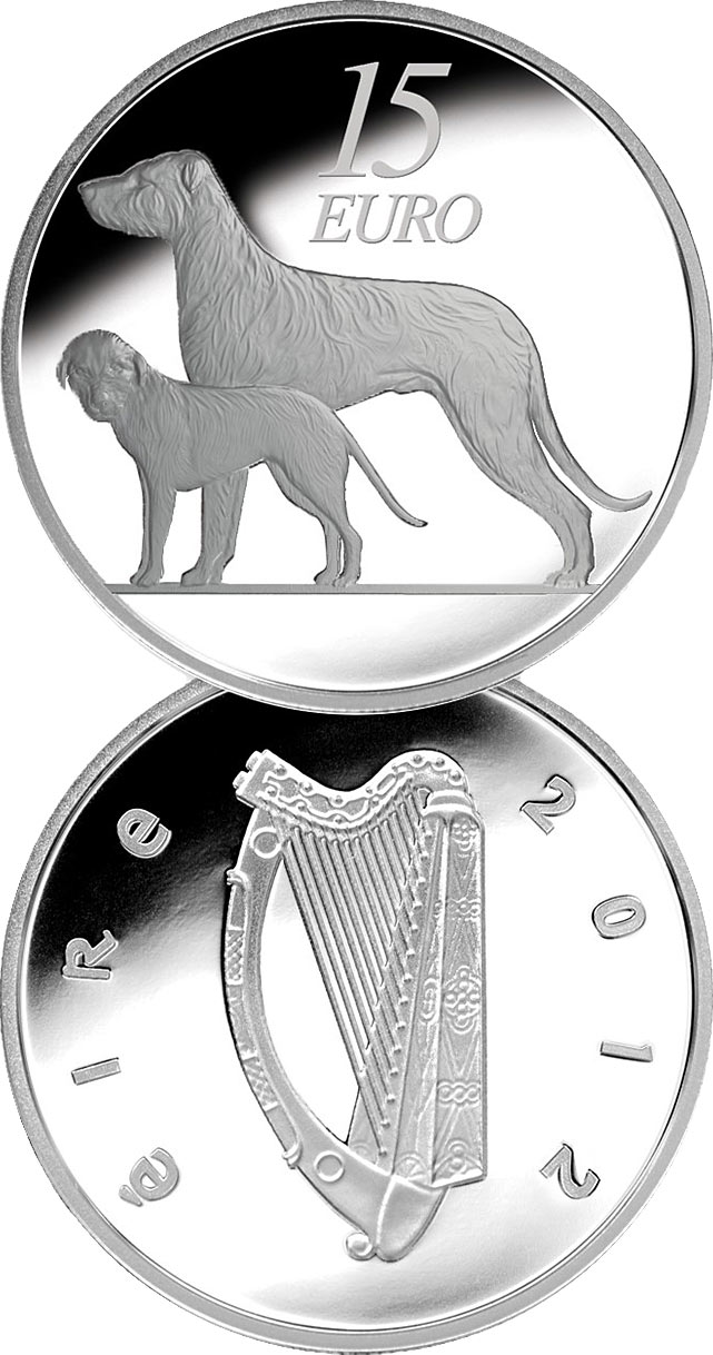 Image of a coin 15 euro | Ireland | The Hound | 2012