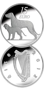 15 euro coin The Hound | Ireland 2012