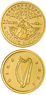 20 euro coin UNESCO Heritage Site of Skellig Michael | Ireland 2008