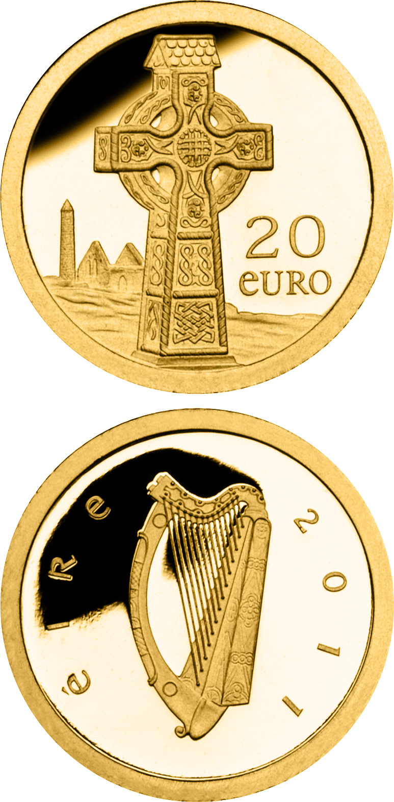 Image of a coin 20 euro | Ireland | Celtic Cross | 2011