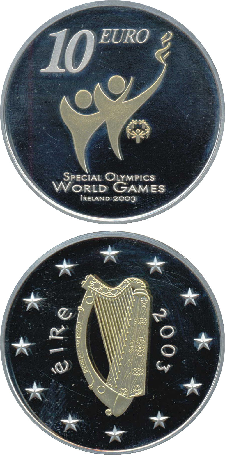 Image of a coin 10 euro | Ireland | Special Olympics World Summer Games | 2003