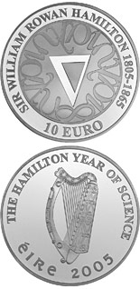 10 euro coin Sir William Rowan Hamilton Birth 200th Anniversary | Ireland 2005