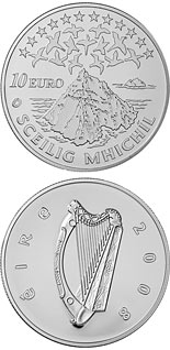 10 euro coin UNESCO Heritage Site of Skellig Michael | Ireland 2008