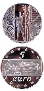 5 euro Europe of the Work - 2003 - Series: Silver 5 euro coins - Italy