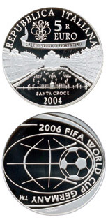 5 euro coin FIFA Football World Cup 2006 in Germany | Italy 2004