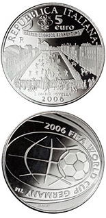 5 euro FIFA Football World Cup 2006 in Germany - 2006 - Series: Silver 5 euro coins - Italy