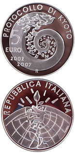 5 euro coin 5 years Kyoto Protocol | Italy 2007