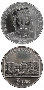 5 euro coin 200. birthday of Giuseppe Garibaldi | Italy 2007