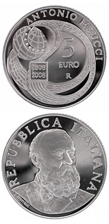 5 euro coin 200th anniversary of the birth Antonio Meucci | Italy 2008