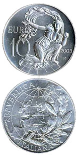 10 euro coin Europe of the people | Italy 2003