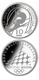 10 euro XX. Olympic Winter Games 2006 in Turin - Alpine Skiing - Downhill skiing - 2005 - Series: Silver 10 euro coins - Italy