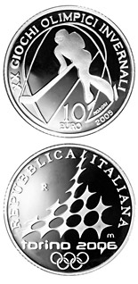 10 euro XX. Olympic Winter Games 2006 in Turin - Ice hockey - 2005 - Series: Silver 10 euro coins - Italy